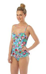 HALF PRICE Womens Swimming Costume Dress Skirt Underwired Push Up Support Ladies