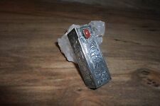 Vintage Sterling Silver Engaved Lipstick Holder w/mirror Italy 92.5  *Worldwide*