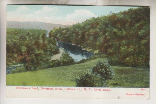 1907 POSTCARD WHITTAKERS BEND NEVERSINK RIVER SULLIVAN COUNTY NEW YORK