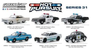 Hot-Pursuit-Series-31-Set-of-6-Police-Cars-1-64-Diecast-Models-Greenlight-42880