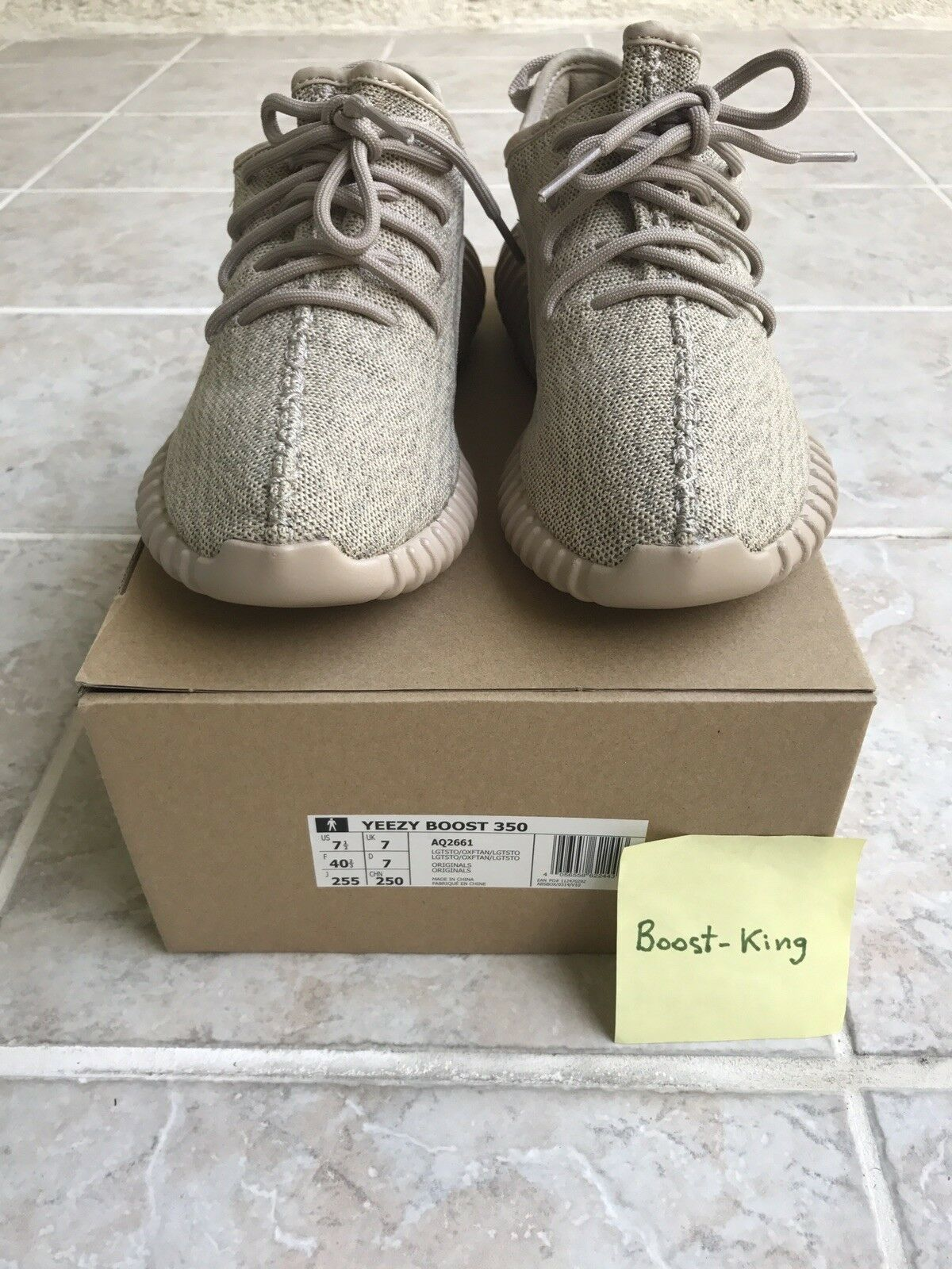 Adidas Yeezy 350 Boost V1 Oxford Tan Men's size 7.5 VNDS