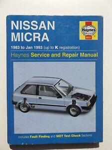Nissan-Micra-1983-to-1993-Haynes-Owner-039-s-Workshop-Service-amp-Repair-Manual-0931