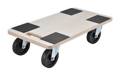 Rollbrett Möbelroller MDF 200kg Möbelhund 58x30x12cm Pflanzenwagen Umzug Möbel