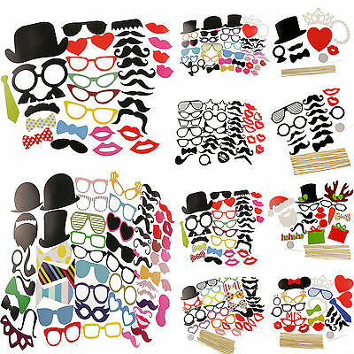 DIY Masks Photo Booth Props Mustache On A Stick Wedding Birthday Party Fun Favor