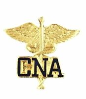 Cna Caduceuslapel Pin Medical Emblem Graduation Prestige Gold Plated 1071