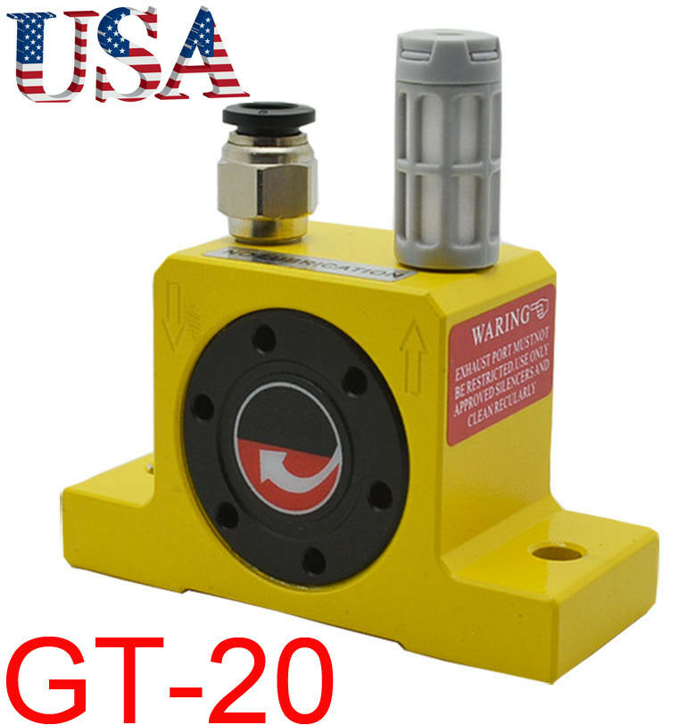 GT-20 Industrial Low noise Pneumatic Turbine Vibrators+Silencer with Connector