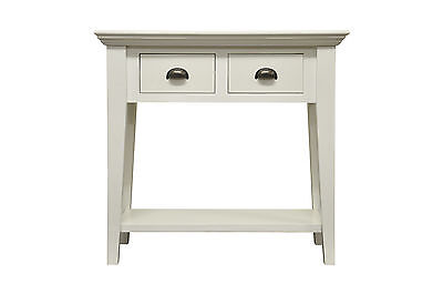 PAINTED 2 DRAWER 2 BASKET SIDEBOARD-WICKER STORAGE-WHITE UNIT-IN STOCK-RRP £299