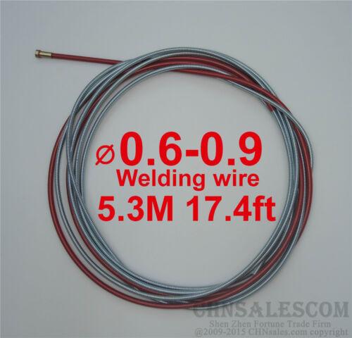 MIG MAG Welding Standard Liner 0.6-0.9 Welding Wire Euro Connectors 5.3M 17.4ft
