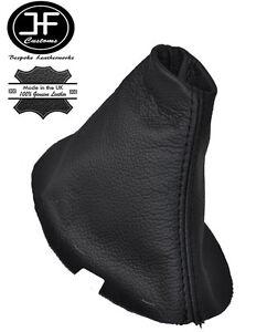 100% De Qualité Black Double Stitch Manuel Cuir Véritable Gear Gaiter Pour Volvo C30 C70 S40 V50-afficher Le Titre D'origine Performance Fiable