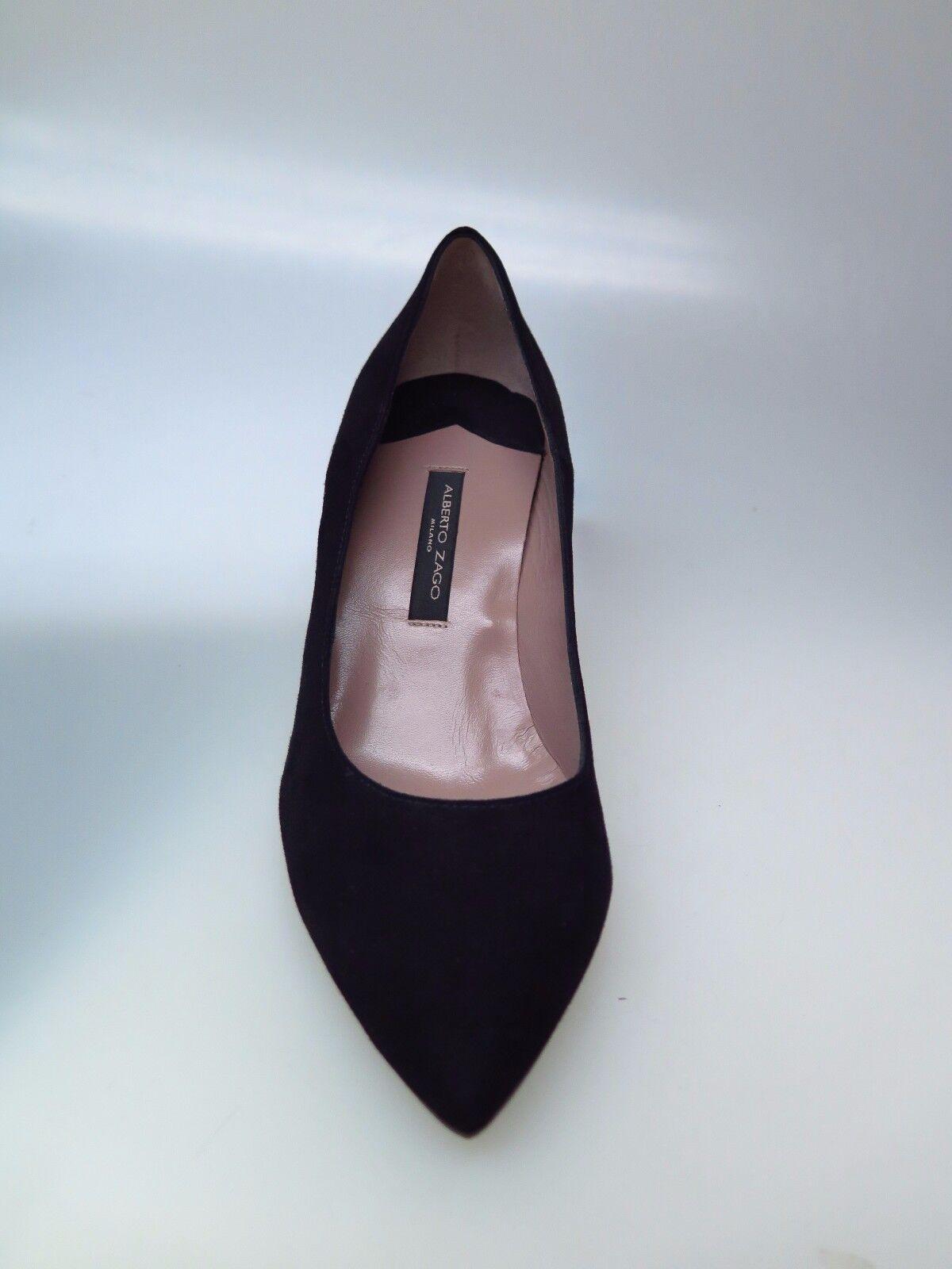 ALBERTO ZAGO Damenschuhe Schuhe A33374 Camoscio schwarz schwarz schwarz Ala Gr. EU 37,5  | Primäre Qualität  42a00b