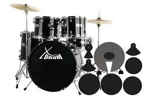 XDrum-Semi-20-034-Studio-Schlagzeug-Drum-Set-Percussion-Drumset-Zubehoer-Schule-Bk