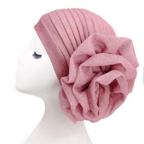 Hat Cancer Hair Loss Head Scarf Turban Cap Large Flower Hijab Chemo Women Muslim
