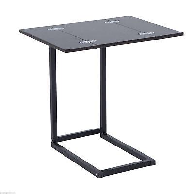 HOMCOM Compact Laptop Notebook Table Stand Folding Expanding Tabletop Desk Dorm