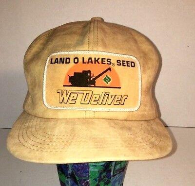 Vintage FUNK/'S HYBRID Seed Fabric Snapback Trucker/'s Cap//Hat Khaki USA