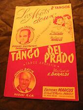Partition Les mots doux Ducretet Thomson Tango del prado Charley Bazin 1955