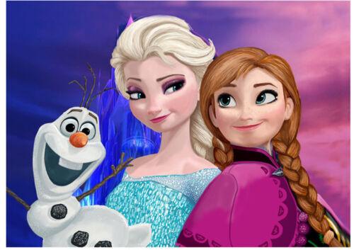 Congelés Elsa Disney Princesse Anniversaire cake topper riz GAUFRETTE Parti Papier A4 i5