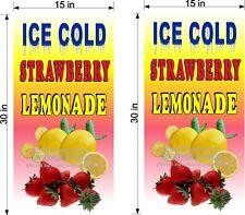 Pair Of 15 X 30 Vinyl Banners Strawberry Lemonade