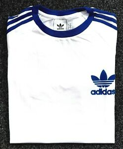 Adidas-Originals-Mens-Trefoil-California-Tees-Crew-Neck-T-Shirt-White-Royal-Blue