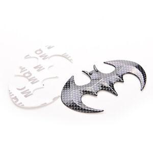 Kohlefaser-geformt-Batman-Emblem-Abzeichen-Aufkleber-Auto-Motorrad-Logo-Gross