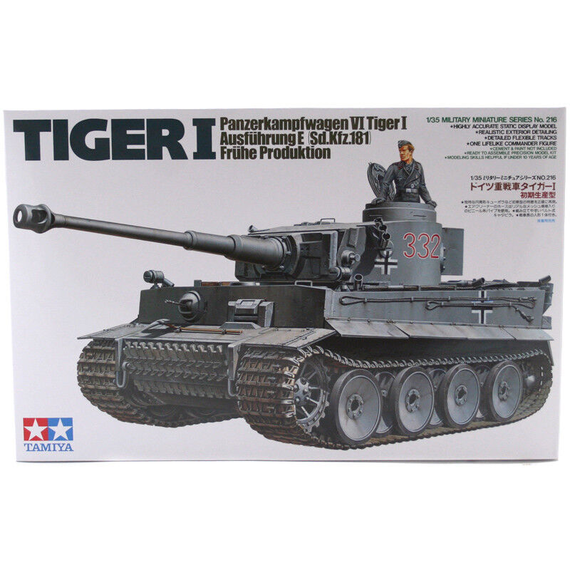 Tamiya Tiger I Early Production Model Set (Scale 1 35) 35216 NEW
