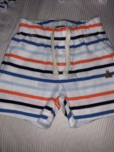 New Nwt Baby Gap Boys Striped Shorts Drawstring Waist Comfy 3-6 MOS Free Ship