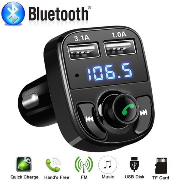 1x Bluetooth Car Dual USB Charger FM Transmitter Radio Adapter MP3 Player ABS