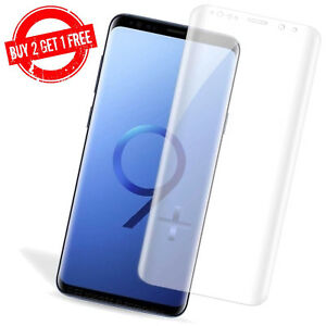 Samsung Galaxy S9+ PLUS Full Coverage Clear Anti-Bubble 3D Film Screen Protector