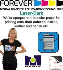 Heat Transfer Paper, Laser Dark FOREVER , For Dark T- Shirt  10 sh A4