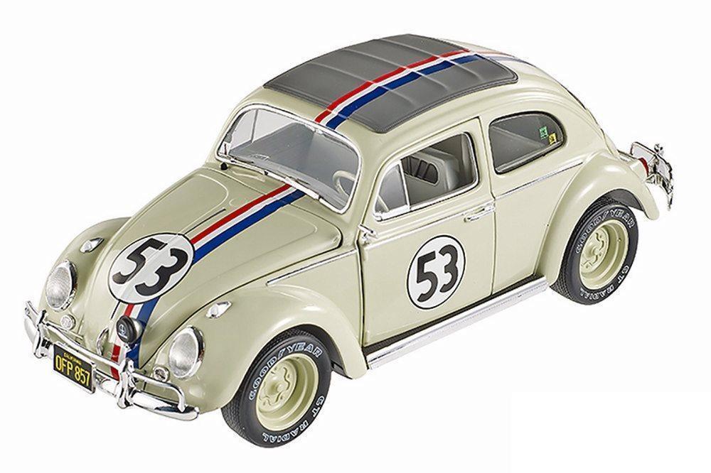 1/18 Hotwheels Volkswagen Escarabajo  53 Herbie va a Monte Carlo Diecast BLY22