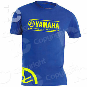 T-Shirt-YAMAHA-Factory-Team-Racing-Diapason-Moto-Pista-Fluorescente-Corse-M1-YZF