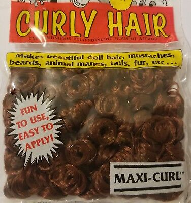 Vintage One /& Only Creations Curly Doll Hair Strawberry Blonde Maxi-Curl 03-300