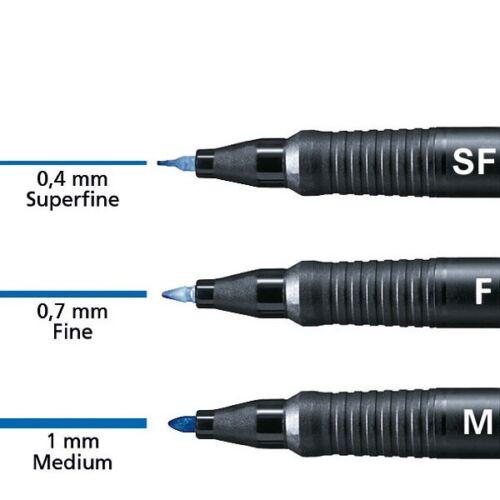0,83€//Stück F permanent Stabilo OHPen Folienstift 0,7 mm 6er Etui 8426