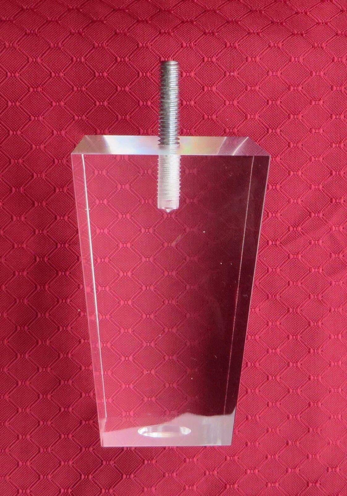 Acrylic Leg for Furniture, Sofa, Cabinet Leg 4  Pyramid, 4PC Quality Fast Ship