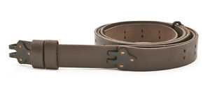 M1907-MILITARY-LEATHER-RIFLE-SLING-Dated-1942-M1GARAND-SPRINGFIELD-Dark