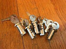 Vending Machine Lot 5 Locks And Keys Fits Most Bulk Gumball Candy Nut Oak
