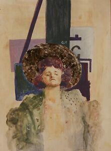 "Item# 2211 Original Oil on Cardboard by Gor Abrahamyan 9x7.5"""