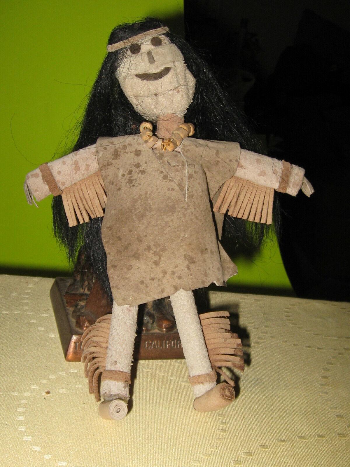 American primitivo Papoose Muñeca Hecha a Mano Casero American Muñeca Coleccionables