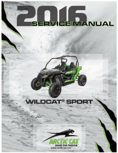 2016 Arctic Cat side-by-side Wildcat Sport service manual in binder