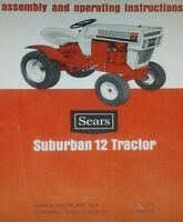 Sears Suburban Ss/12 Garden Tractor Owner & Parts Manual 22pg 917.25350 Lawn Ss