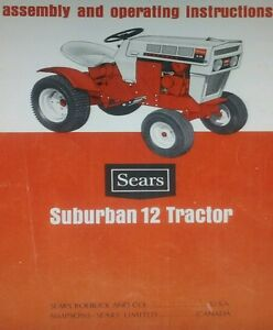 sears suburban ss 12 garden tractor owner parts manual 22pg rh ebay com sears garden tractor parts manual sears garden tractor parts manual