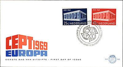 Europa Schlussverkauf Ersttagsbrief Eerste Dag Uitgifte Nederland Cept 1969 Sonderstempel Gravenhage Buy One Give One Niederlande & Kolonien