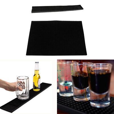 2x Rubber Bar Service Mat Water Proof Bar Mat Cocktail Cup Coaster 45x30cm