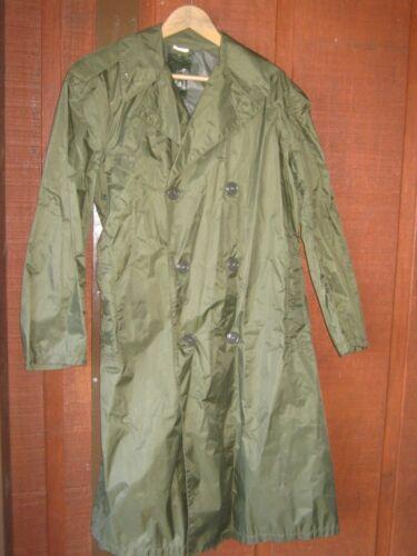 Original Vintage Military Olive Green Long Raincoa