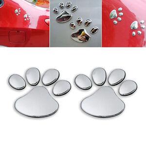1-pair-Bear-Cat-Dog-Paw-Foot-Prints-Car-Silver-Window-Bumper-Body-Decal-Sticker