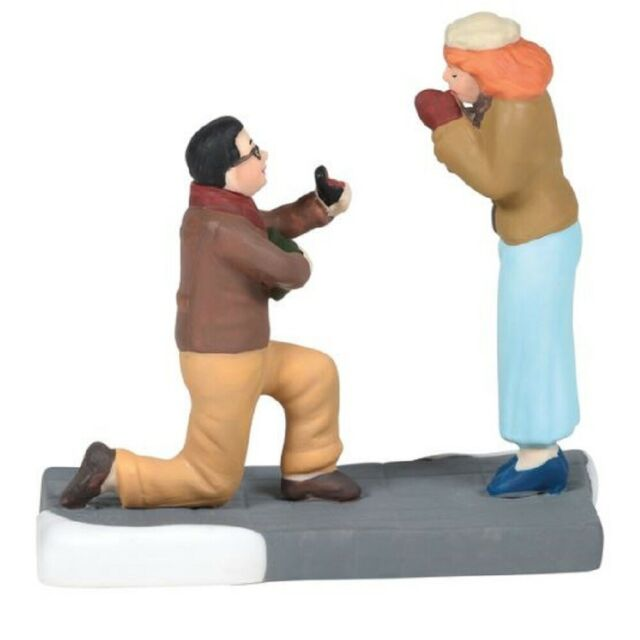 Department 56 Christmas in the City Village Will You Marry Me Figurine 6005388