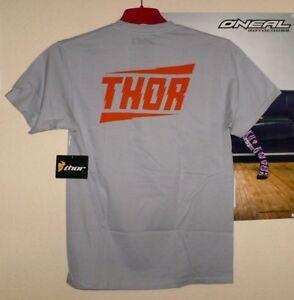 THOR-Racing-Voltage-T-Shirt-Tee-Grau-Orange-Freeride-MX-Cross-M-Acerbis-Ufo-KTM