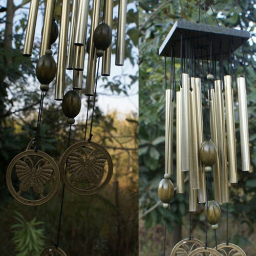 Large Wind Chimes Bells 12 Tubes Outdoor Yard Garden Home Decor Ornament Gift