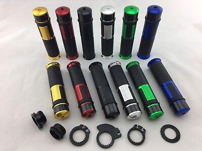 Lenkergriffe Gummigriffe Motorrad Griffe Hand Grip 22mm Roller cnc Aluminium
