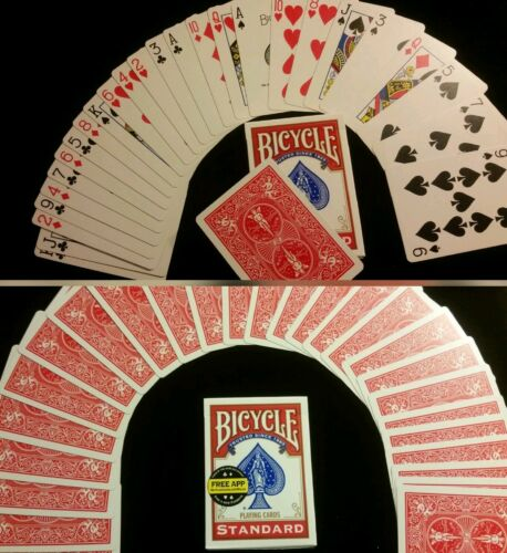 Red backed Magic Cards 2 differant force cards seen on TV 2 SVENGALI DECKS