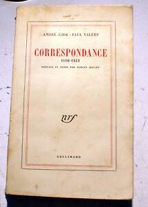 CORRESPONDANCE-GIDE-VALERY-NRF-1955-1ERE-EDITION